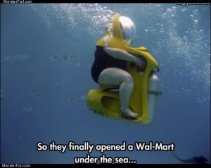 Under water walmart