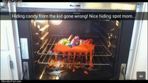 Hiding candy gone wrong