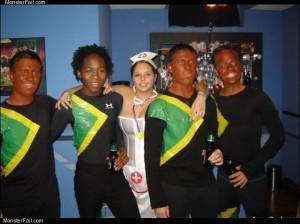 Jamaican bobseld team