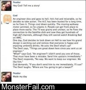 Poor God