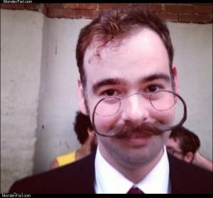 Glasses mustache