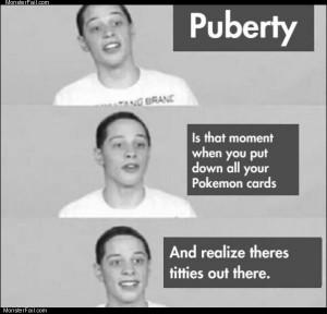 Puberty kid
