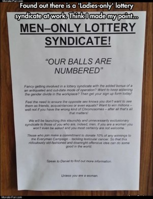 Men only lottery