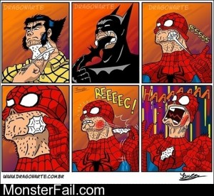 When Super Heroes Shave