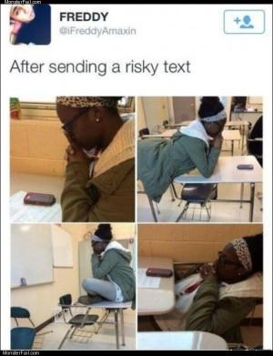 A risky text