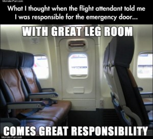 Emergency exit row
