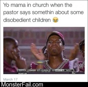 Yo Mama In Church
