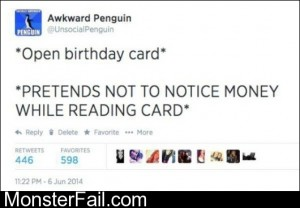 Opening A Birthday Card