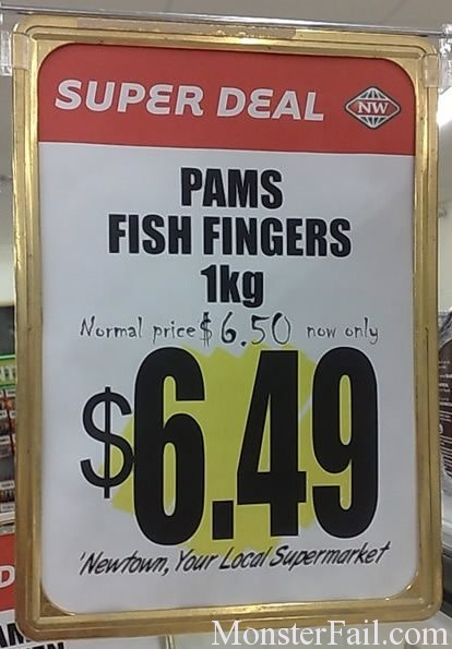 Fish Finger Discount Fail.