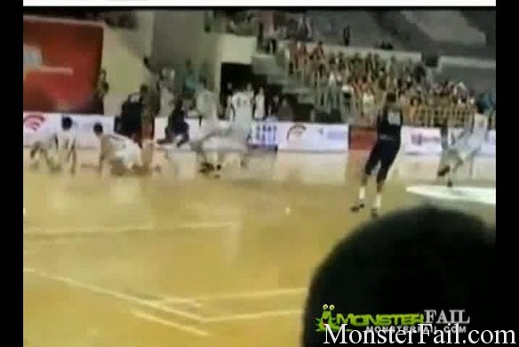 China USA (Georgetown) Basketball Fight – Video