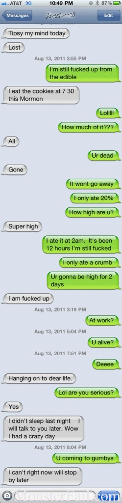 Overdose Texting Fail