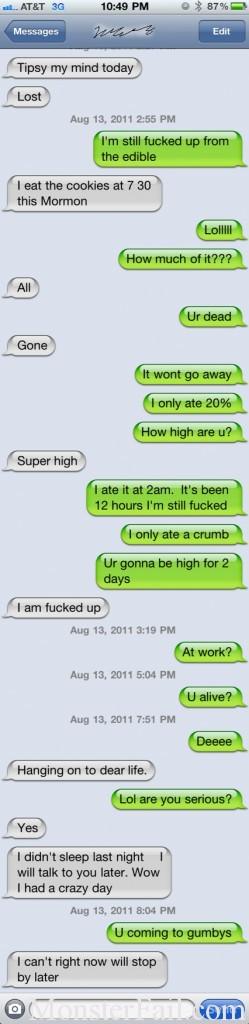 Overdose Texting Fail