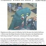 Man dressed as Gumby tries to rob California store