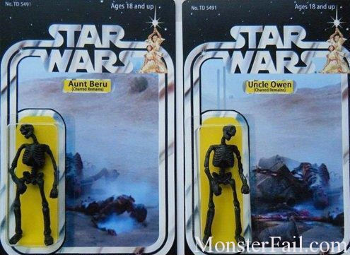 Star Wars Figurine Fail