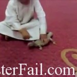 Pet lizard being mistreated attacks boy