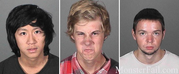 Three arrested in bungled beer heist in Covina.  Mug shot Fail.