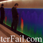 color changing urinal
