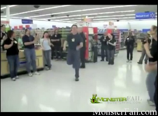 Walmart warmup. Wow this must be hell. FAIL