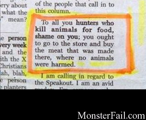 Anti hunting fail.