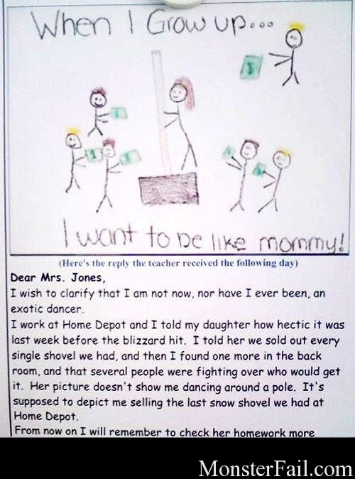 I wanna be like mommy.  FAIL.