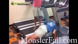 he bounces right off into a backward cartwheel