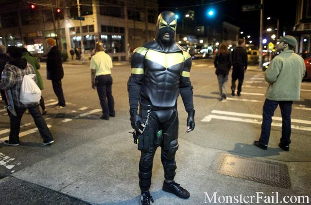 Seattle 'superhero' crime-fighter arrested on assault charges.  Fail or Win?