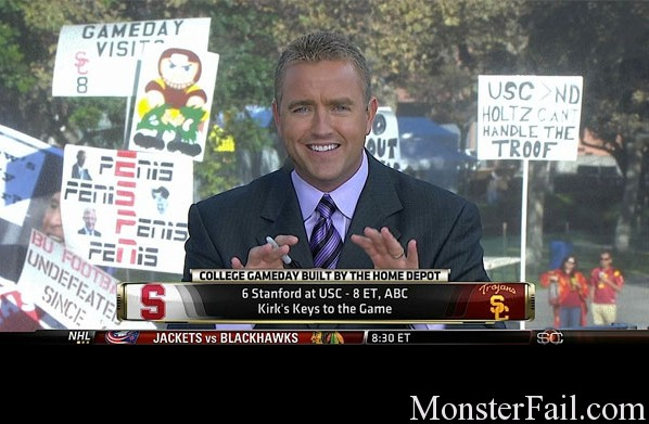 ESPN Penis sign.  FAIL