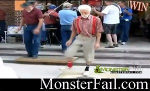 Granpa Super Shuffelin. He's got some moves.