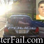 Planking on a cop car can get you arrested.