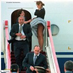 No Panties up skirt of First Lady of Armenia.