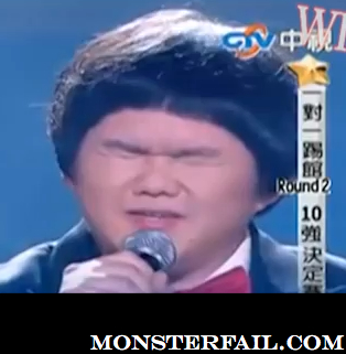 "Asian boy sings ""I Will Always Love You"" better than Whitney Houston did. LOL WIN"