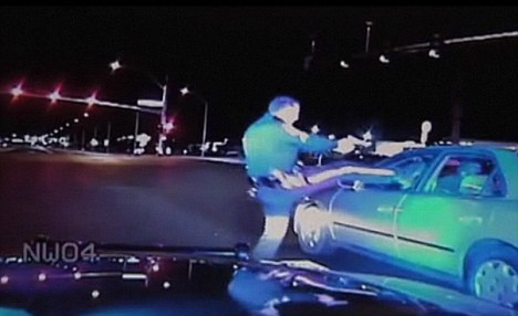 Police officer seen on dashcam video brutally kicking motorist suffering from diabetic shock. &#8211; FAIL