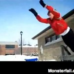 Guy fails miserably at trying to dive into snow.