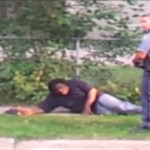 cop kick vomiting man in the face