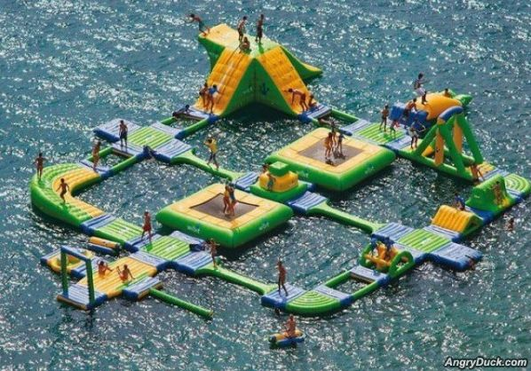 really cool water playground
